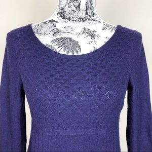 Anthropologie Sweaters - ANTHROPOLOGIE GUINEVERE Lozenge Wool Blend Sweater